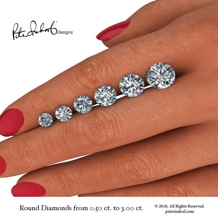 Comparative Diamonds Shapes and Sizes